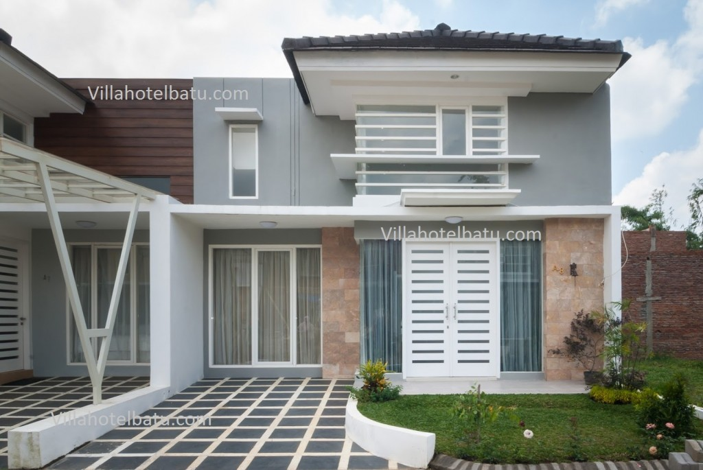 The Villa White Batu Tampak Depan