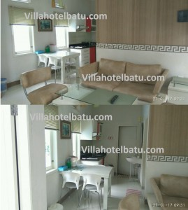 Villa 2 kamar kolam renang di batu