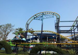 wahana roller coaster di Jatim Park 1